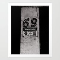 69 Just do it Art Print