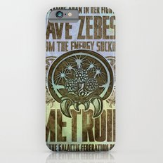 Save Zebes! Metroid Geek Art Vintage Poster iPhone 6s Slim Case