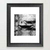 Summer space, smelting selves, simmer shimmers. [extra, 10, grayscale version] Framed Art Print