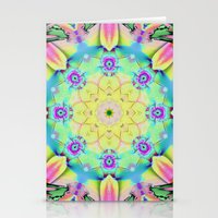 Summer feelings, colourful kaleidoscope design Stationery Cards