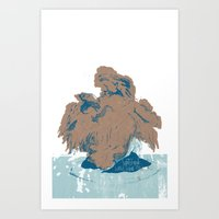 Surtseyan Volcanic Eruption Art Print