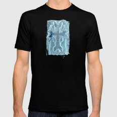 Celtic Blue - JUSTART © Black Mens Fitted Tee SMALL