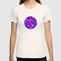 Blue and Red  Womens Fitted Tee Natural SMALL