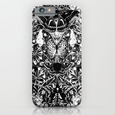 Black and White Honeysuckle and Moths iPhone 6 Slim Case