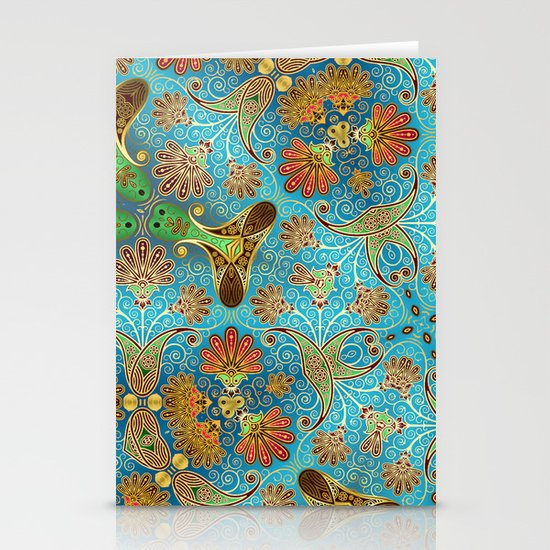 Indian Floral Stationery Card