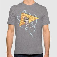 Hang (glide) In There Mens Fitted Tee Tri-Grey SMALL
