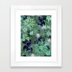 Flora Fauna (Pattern) Framed Art Print