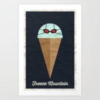 Freeze Mountain Art Print