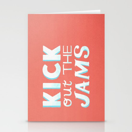 Kick Out The Jams Stationery Card