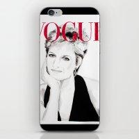 Vogue Magazine Cover. Lady Diana Spencer. Fashion Illustration  iPhone & iPod Skin