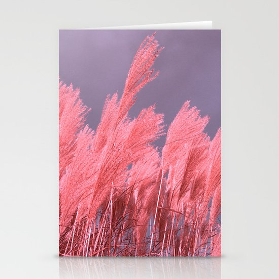 pastel grass Stationery Card