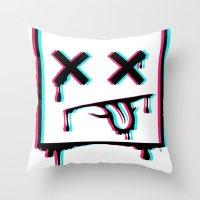 Dead Pixel CMK Throw Pillow