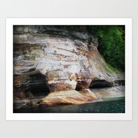 Rocky Caverns Art Print