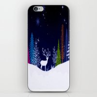 Snowy Night iPhone & iPod Skin