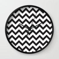 Classic Chevron Wall Clock
