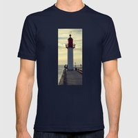 HEADLIGHT 2 Mens Fitted Tee Navy SMALL