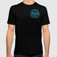 think Mens Fitted Tee Black SMALL