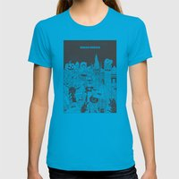 Squad Ghouls Womens Fitted Tee Teal SMALL