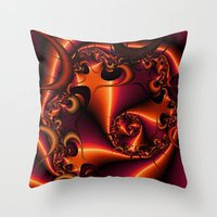Flaming Thorn Throw Pillow