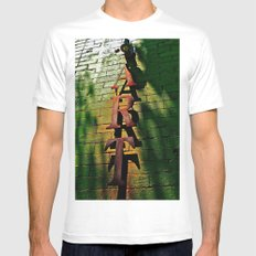 Art on Bricks Mens Fitted Tee SMALL White