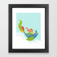 Bird And Girl Framed Art Print
