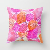 The skin of Pink Cheetah Throw Pillow