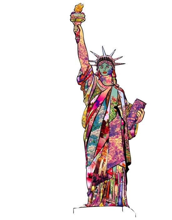 the french gift: statue of liberty Art Print
