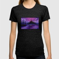 The Lantern Scene Womens Fitted Tee Tri-Black SMALL