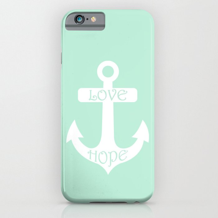 love hope anchor mint green iphone amp ipod case by