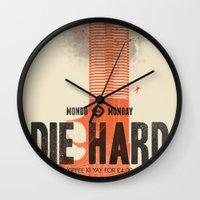 Die Hard (Full poster variant) Wall Clock