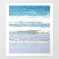 Rolling Waves 4 Vertical Art Print