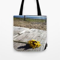 Flower By The Sea Tote Bag