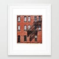 Tenement Facade  Framed Art Print