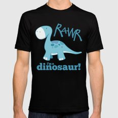 RAWR I'm a Dinosaur! Mens Fitted Tee Black SMALL