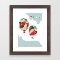 Celebrate Shapes  Framed Art Print