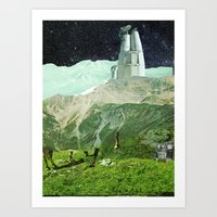 Experiment am Berg 7 Art Print