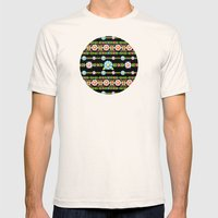 Millefiori Boho Chic Stripe Mens Fitted Tee Natural SMALL