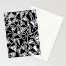 Abstract Outline Lines Black Stationery Cards