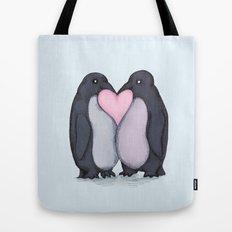 Penguin Kisses  Tote Bag