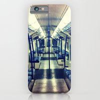 iPhone & iPod Case featuring Empty tube- Victoria Line by Efua Boakye