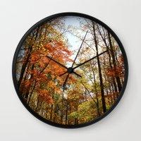 Fall's Wanderlust  Wall Clock