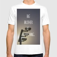 Big Brother Mens Fitted Tee White SMALL