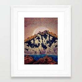 Framed Art Print - Guiding me across Nobe - Kijiermono