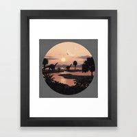 Jurassic Beach Framed Art Print