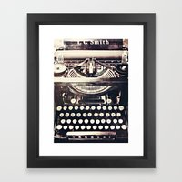 aging gracefully Framed Art Print