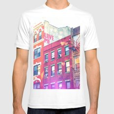 NYC Love Mens Fitted Tee White SMALL