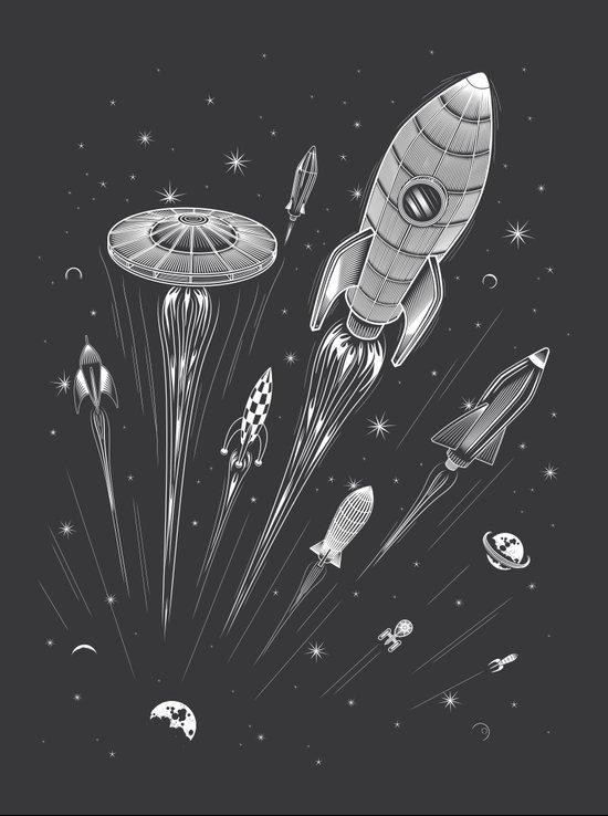 Space Race Canvas Print