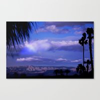 SUNDOWN IN PALM SPRINGS Canvas Print