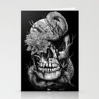 Snake And Skull Stationery Cards