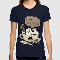 Cafe Latte Womens Fitted Tee Navy SMALL